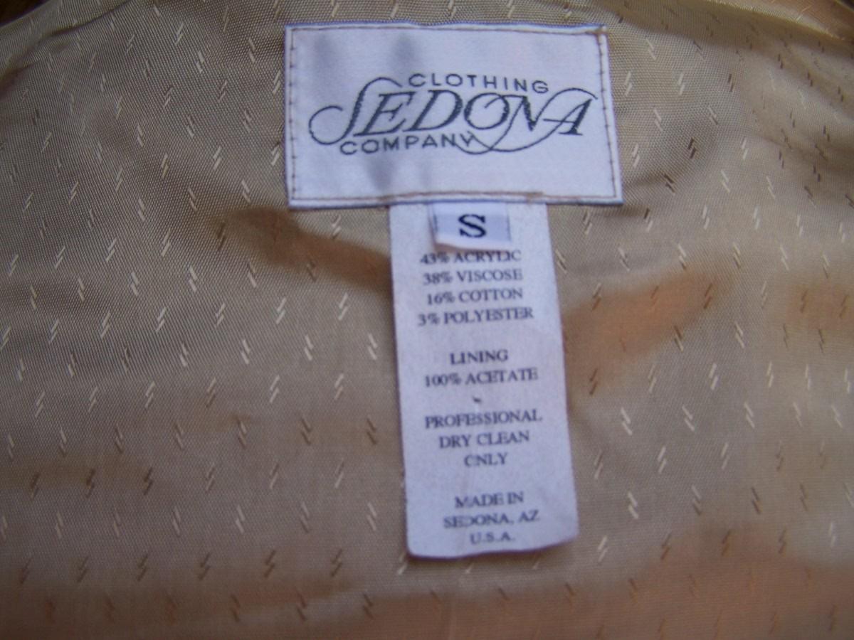 Vest Small  Multi Color  Tapestry  Conchos  Sedona  As New