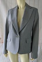 Banana Republic Blazer 8 New Gray Heather Wool Spandex Stretch Lined - $38.61