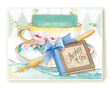 Tea card thinking of you