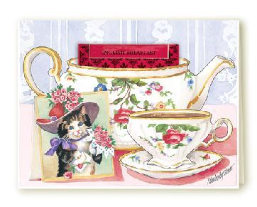 Tea card red hat