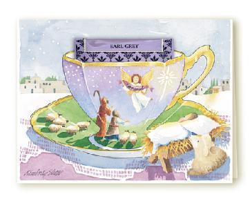 Tea card nativity