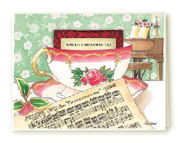 Tea card christmas music