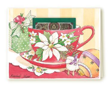 Tea card holiday greetings