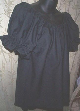 BLACK Renaissance CHEMISE peasant blouse