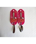 NWT Sanrio HELLO KITTY Logo Teaspoon & Butter Knife Tea Time Kitchen Cut... - $11.40