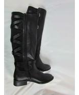 NWOB Thalia Sodi Knee High Low Heel Black Boot 7 M Leather Bottom - $94.99