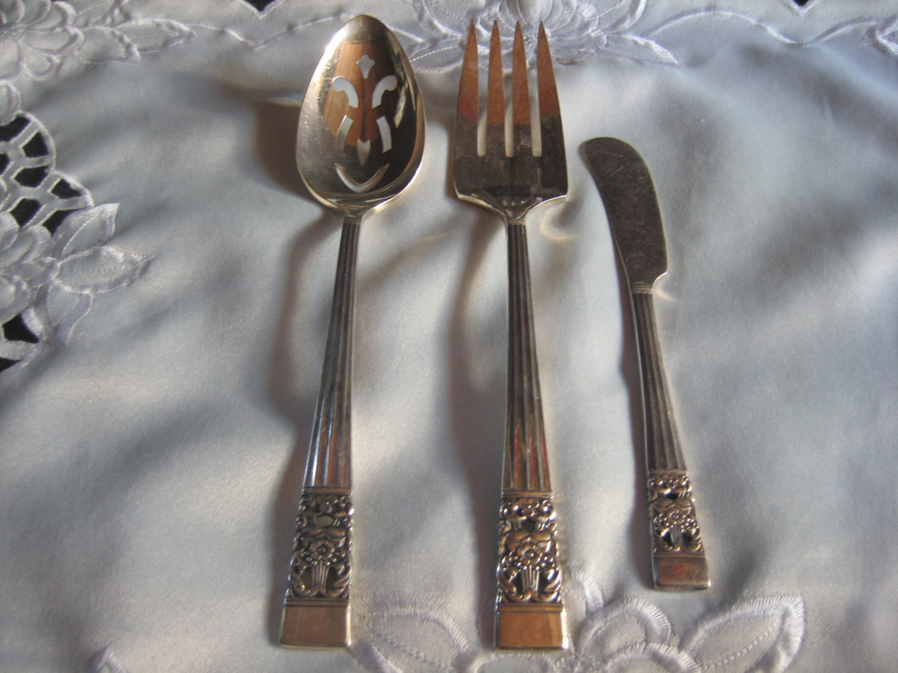 Silver 3 piece serving set