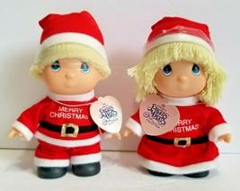 1991 Enesco Hi Babies Precious Moments Plastic Dolls Christmas Santa Boy... - $17.99