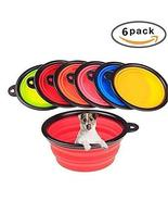 6 pcs Pet Bowls for Cat Traveling Dogs Feeding Collapsible Silicone Tkmiss - $21.78