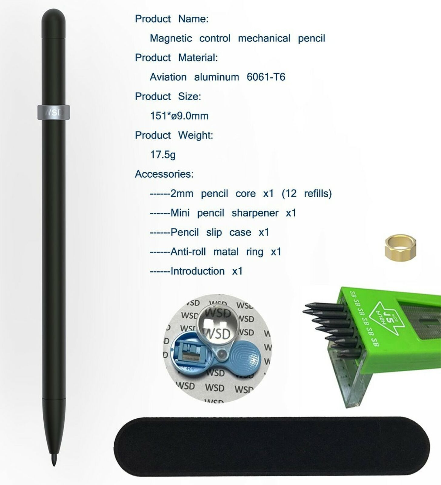 Pentel ERGoNoMiX WingGrip Mechanical Pencil 0.5mm Choose body color