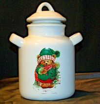 Christmas Double Handle Ceramic Cookie Jar w Lid Item # 252 1P1 AA-191963  Colle image 6