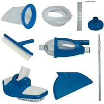 Pool Maintenance Kit Intex Deluxe Edition Suction Vacuum Cleaning Skimme... - $62.36