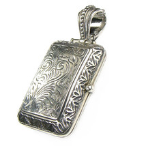 Gerochristo 3358 - Sterling Silver Engraved Rectangular Locket Pendant  - $245.00