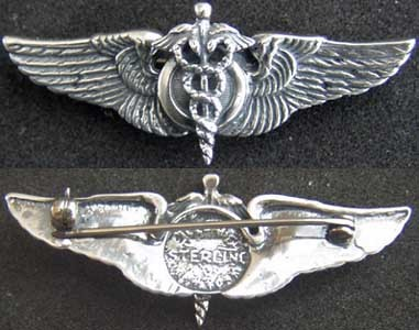 Primary image for  WWII Flight Surgeon Wings Luxenberg Sterling Silver