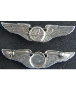 WWII Navigator Wings Luxenberg Sterling Silver  Pin Back 2 inch     - $65.00