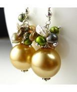 Gold Pearl Earrings - $22.00