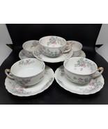 Antique Haviland &Co. Limoges 5 teacups & 5 saucers in excellent condition - $120.00