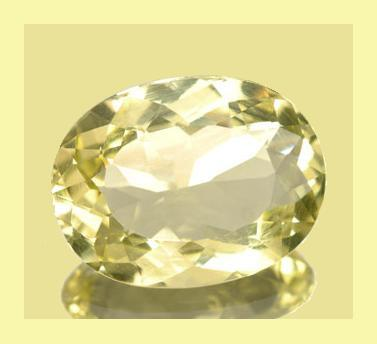 Primary image for 8.00ct GOLDEN YELLOW BERYL Oval Faceted Loose Gemstone