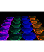 Assorted Neon Blacklight Reactive 10oz Bowls 20ct. - $11.95
