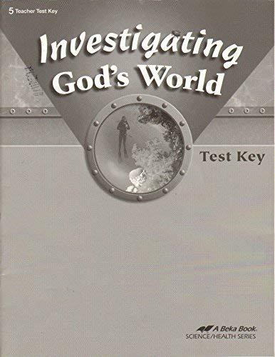 Primary image for Investigating God's World Test Key 5 Teacher Test Key [Paperback]