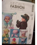 McCalls M5253 Infant & Toddler Hats & Mittens Pattern ~ 2006 - $5.99