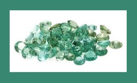 5.00ct Lot GREEN APATITE Round Faceted Loose Gemstones
