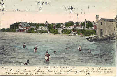 Olcott Beach New York 1906 vintage Post Card