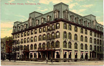 The Bolton House Harrisburg Pennsylvania Post Card