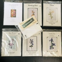 6 Cross-Stitch Patterns Silver Lining Florals- Heaven Earth Blossoms - Zweigart - $46.28