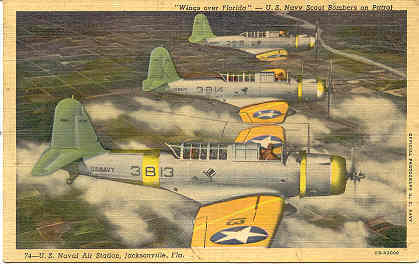 United States Navy Scout Bombers, World War 2 Post Card