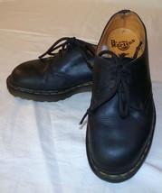 Dr Martens Doc Black 6 Lace Up England Unisex Shoes Vtg  - $29.02