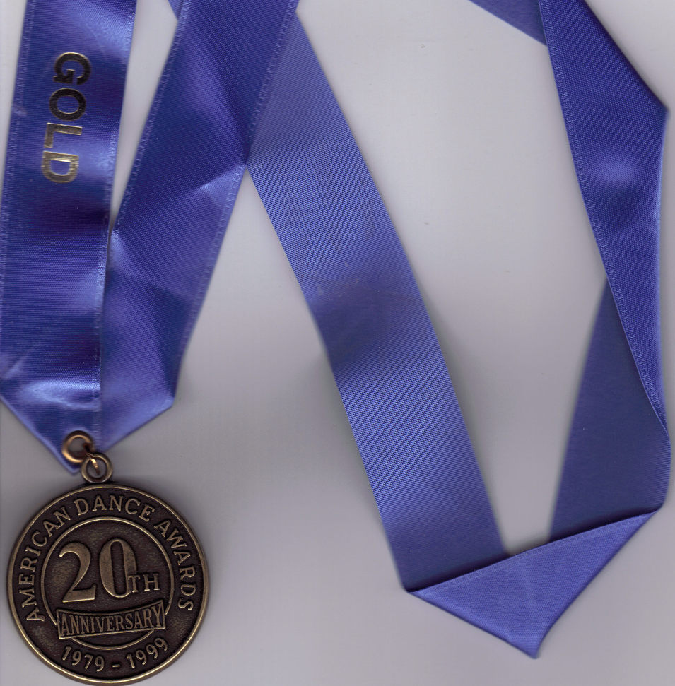 AMERICAN DANCE AWARDS 20th anniversary 1999 MEDAL
