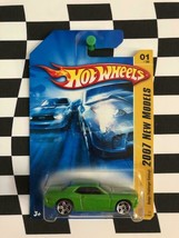 Hot Wheels 2007 New Models FE 001 Dodge Challenger Concept Green PR5 - $3.26