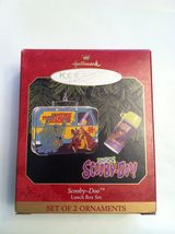 1999 Hallmark SCOOBY-DOO LUNCH BOX SET of 2 Ornaments Cartoon Keepsake NIB - $17.99