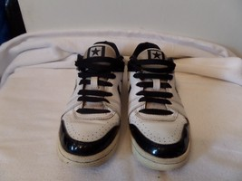 CONVERSE ALL STAR Pro Leather Junior shoe White & Black  size 4 used - $7.91