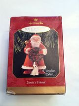 "HALLMARK CHRISTMAS ORNAMENT ""SANTA'S FRIEND"" 1997  MARJOLEIN BASTIN SANT... - $16.99"