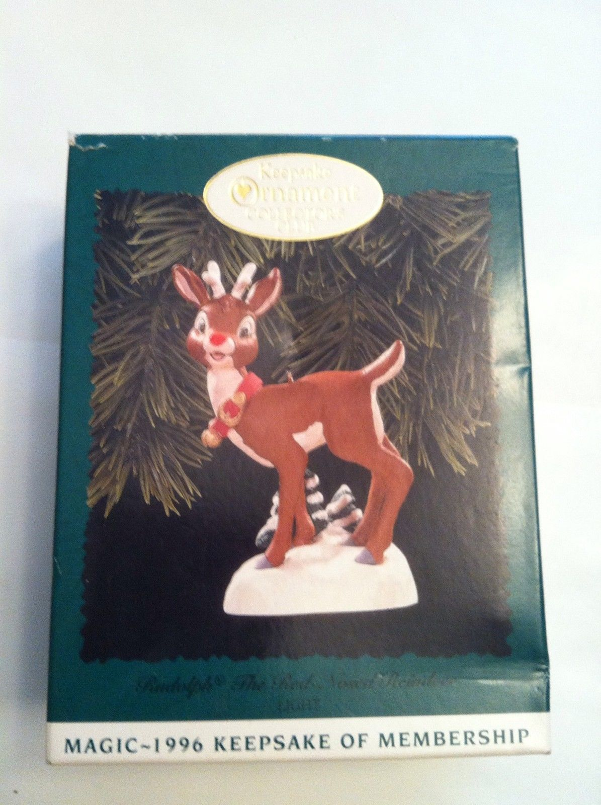 Hallmark Christmas Ornament Collector's Club Rudolph the red nosed Reindeer 1996