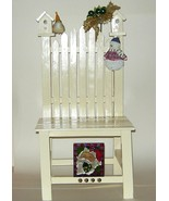 Large White Wood Decorated Doll Christmas Chair... - $28.00