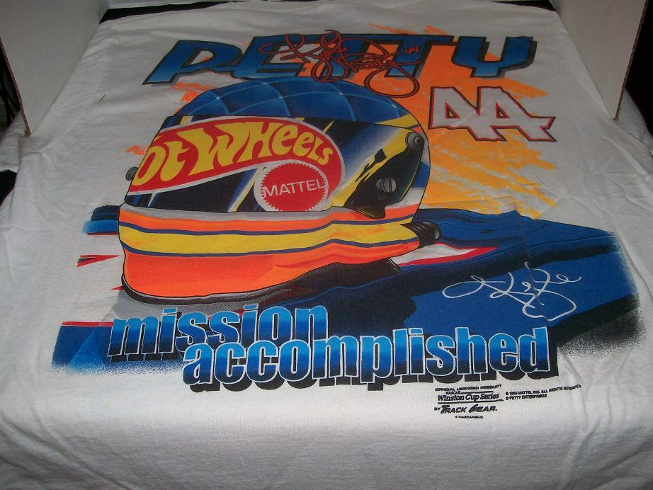 KYLE PETTY T-SHIRT #44 -- 1998 MATTEL  HOT WHEELS RACING