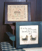 House and Home OOP Primitive Stitchery pattern  - $3.50