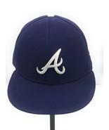 New Era 59 Fifty Men's MLB Atlanta Braves Baseball Blue Fitted Hat Cap S... - $18.80