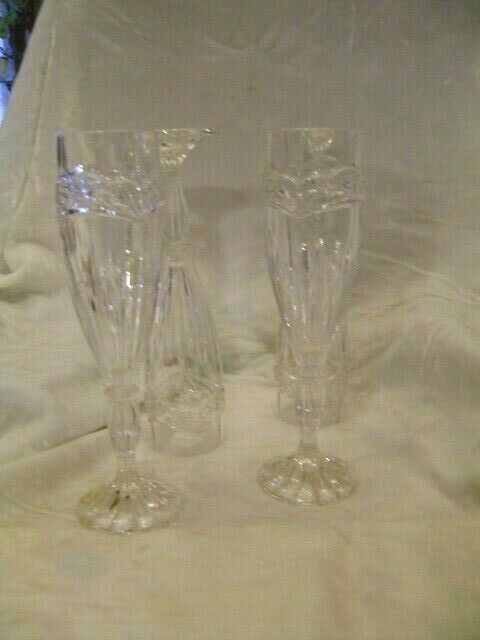 Primary image for BLEIKRISTALL Made in W. Germany  Crystal 24% PBO Champagne Glasses 4 Pieces
