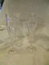 BLEIKRISTALL Made in W. Germany  Crystal 24% PBO Champagne Glasses 4 Pieces - $48.37