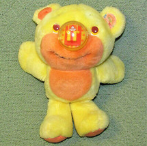 Vintage Playskool NOSY BEAR SURPRISE Yellow 1988 Plush Stuffed Animal Teddy Toy image 1