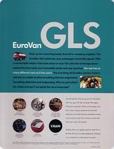 1999 Volkswagen EUROVAN GLS sales brochure sheet US VW 99 - $8.00