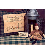 God Bless the Garden OOP Primitive Stitchery and doll patter - $3.50