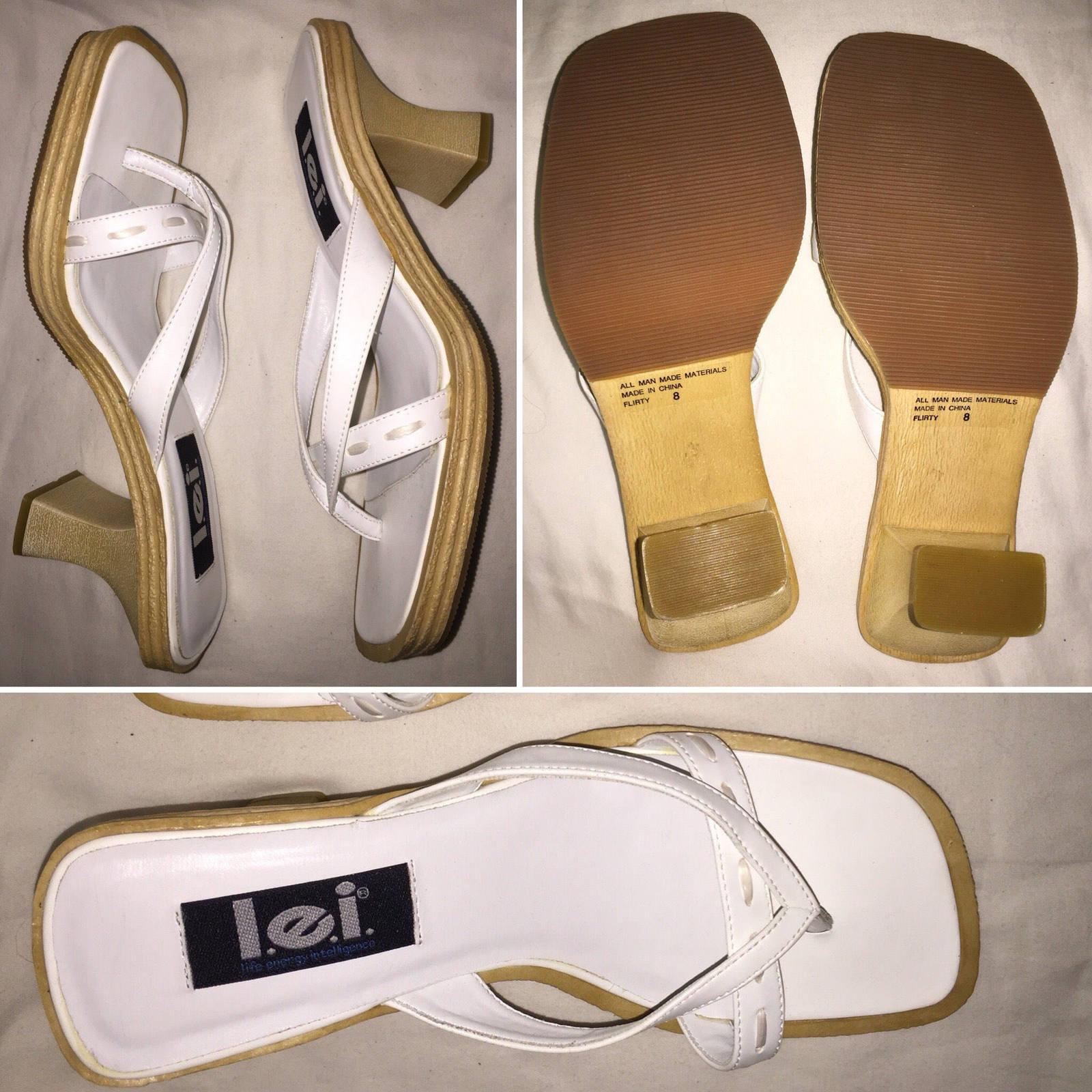 3e8136e374ab Il fullxfull.1406617522 j2d1. Il fullxfull.1406617522 j2d1. Previous. 1990 s  Vintage L.E.I Classy White High Heels Sandals ...