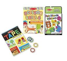 Melissa & Doug On-the-Go Craft Set 3-Pack - Tape Activity Book, Scissor Skills A - $34.60