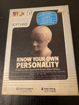 COMMODORE VIC 20 Know Your Own Personality tested boxed cassette softwar... - $7.99