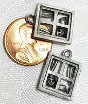 CAT IN WINDOW FINE PEWTER PENDANT CHARM CAST ANTIQUE SILVER FINISH UNITED STATES image 4